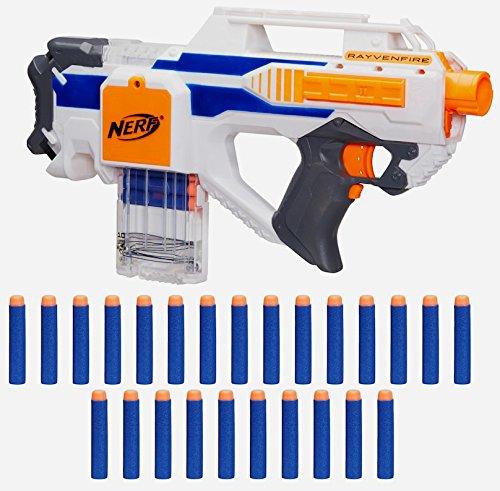 Nerf exclusive n strike elite rayvenfire motorized rapid for Nerf motorized rapid fire blasting
