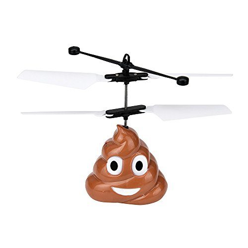 Hand Flying Poop Emoji Toy Infrared Induction Colorful
